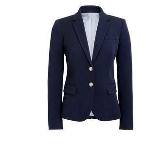 J Crew Wool Blend Navy Lined Blazer Style 92480